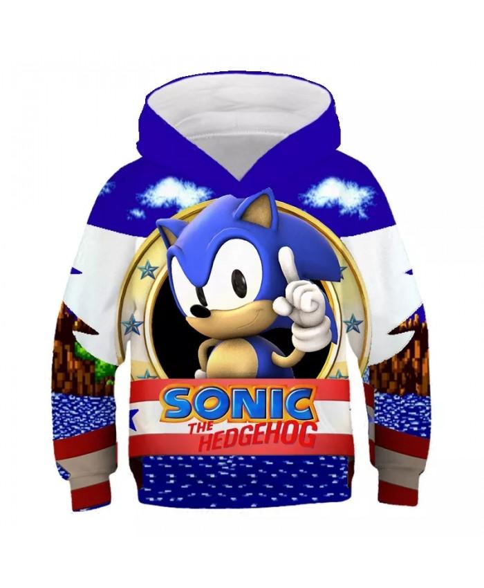 Super Cool 3d Sonic Hoodies For Teen Girls Clothes Family Mario Sonic The Hedgehog Boys Hoodies Autumn Children's Sweatshirt Top