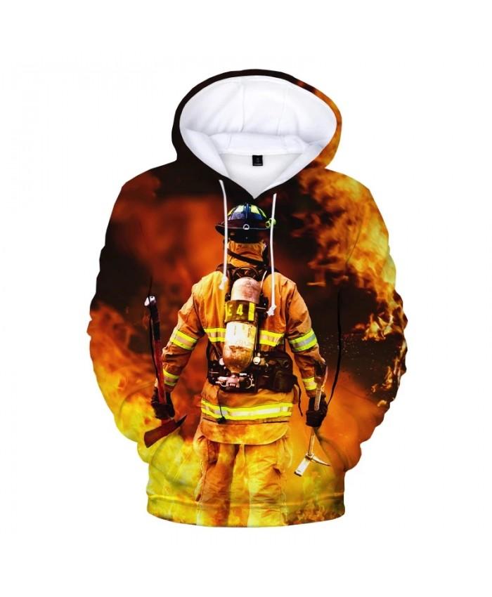 Firefighter Firemen 3D Print Hoodies Men Women Fashion Casual Hooded Sweatshirts Unisex Harajuku Streetwear Cool Pullovers