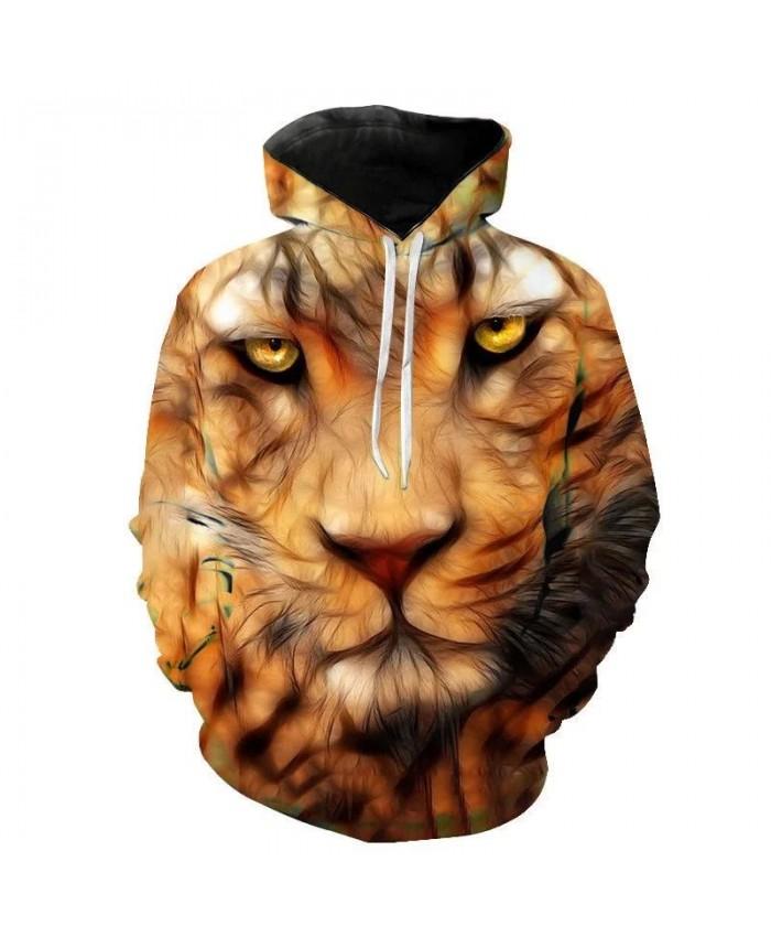 Men's new animal-print hoodie 3D lion head hoodie for fall 2021 brand hoodie fashion tracksuit street coat Boys Girls Child Men