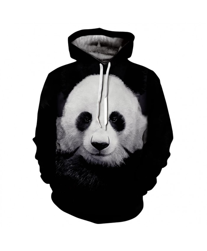Autumn And Winter New Panda Printing 3d Men's And Women's Hoodies Youth Fashion Sweatshirts Street Hip-Hop Long-Sleeved Coat