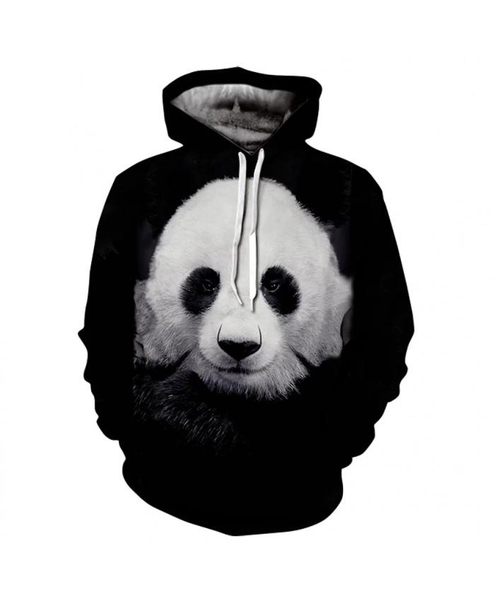 Autumn And Winter New Panda Printing 3d Men's And Women's Hoodies Youth Fashion Sweatshirts Street Hip-Hop Long-Sleeved Coat