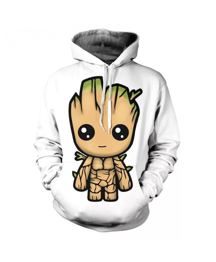 Fall New 3d Printed Men's Hoodie Groot Movie Guardians Of The Galaxy Kids Fashion Pullover Long Sleeve Sportswear Coat