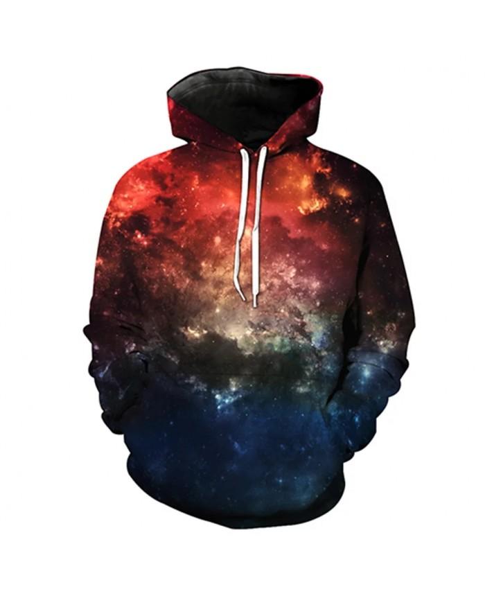 Stitching design red blue stitching nebula cool 3D sportswears
