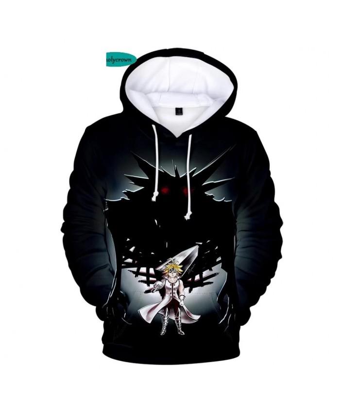 3D Hoodies Men Tops Print Comic The Seven Deadly Sins Sweatshirts Women Hip Hop Children Hooded Hot Autumn boys girls Hoodie