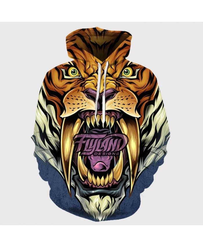 Autumn New 3d Printing Men's Hoodie Animal Tiger Sweatshirt Casual Harajuku Pullover Men And Women Hip-hop Animal Coat