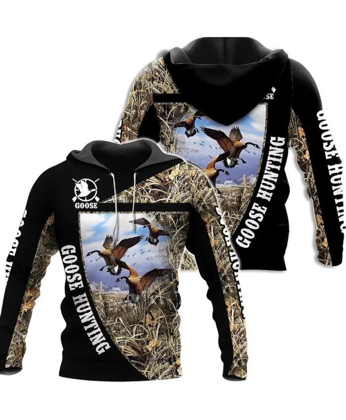 New fashion hoodie 3D printed goose hunting sweatshirt hoodie zipper hoodie unisex street casual sweatshirt