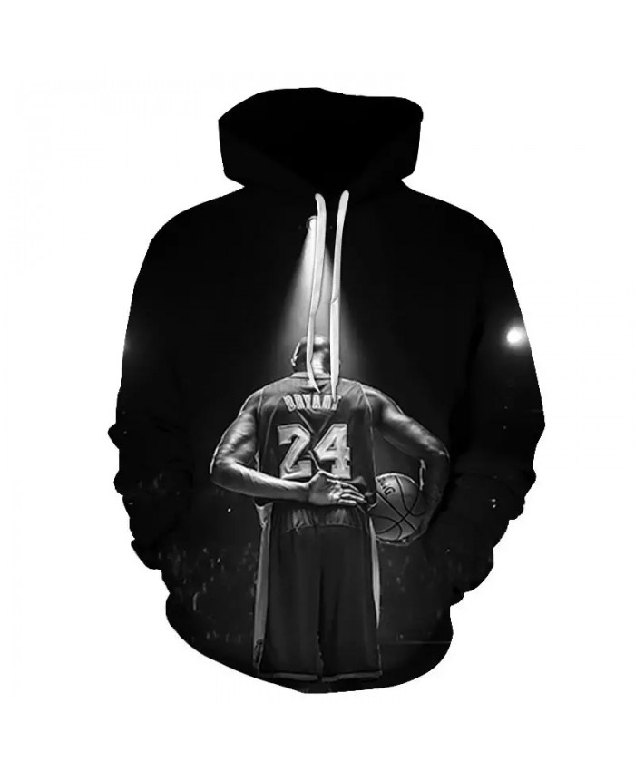All-Star Basketball Hoodie No. 24 Memorial Clothes Men's Sports Casual Hoodie