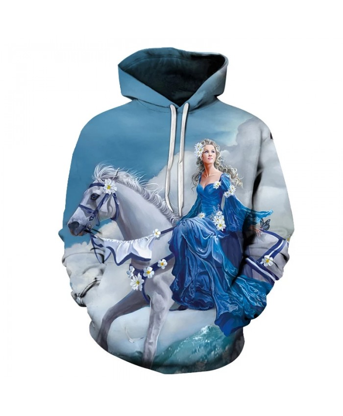 Horse Princess 3D Printed Hoodie Sweatshirts Men Women Fashion Casual Tracksuit Pullover Horse Animal Pattern Streetwear Hoodies