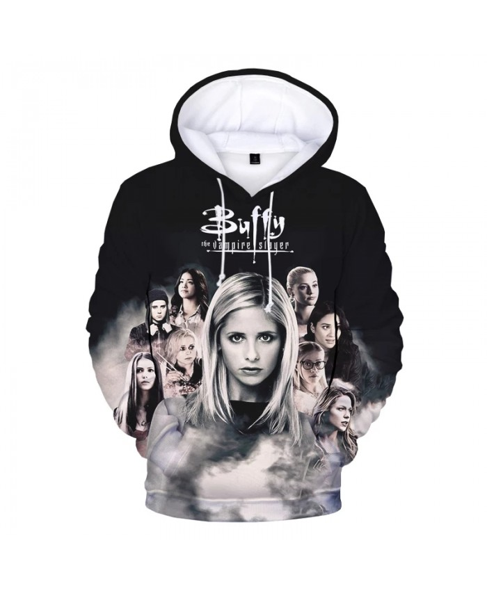 Buffy the Vampire Slayer 3D Print Hoodie Sweatshirts Men Women Fashion Casual Hip Hop Pullover Harajuku Streetwear Hoodies