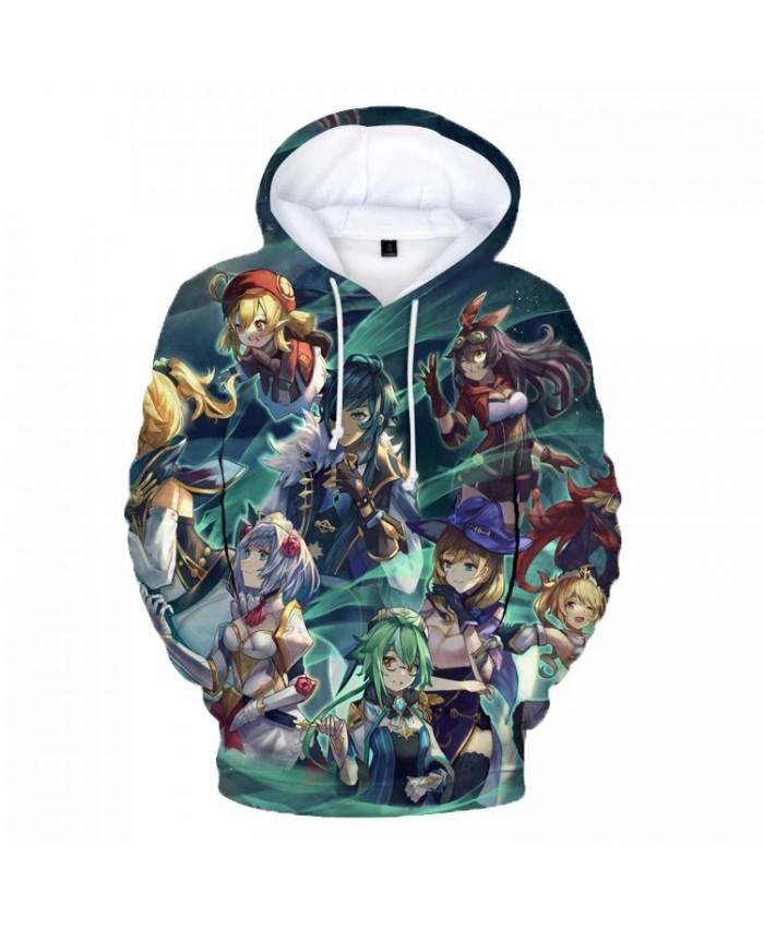 3D Genshin Impact Hoodies anime clothes Men Women's Hoodie Unisex Oversized Hooded Sweatshirt kids Clothing harajuku top Casual