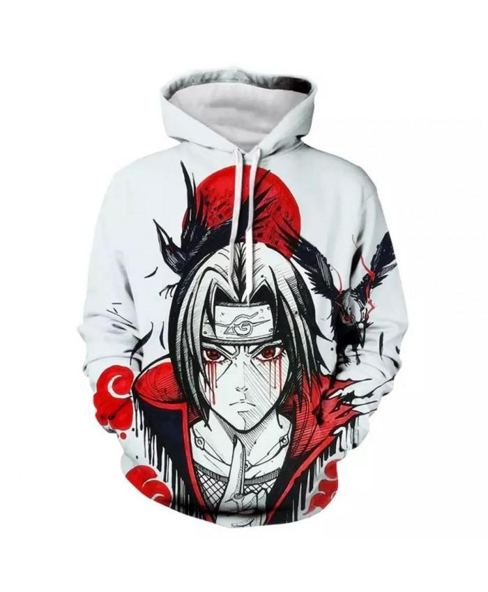 2021 Naruto Hooded  Jacket Men 3D Hoodies Akatsuki Coat Uchiha Itach Cosplay Costume Kakashi Anime Sweatshirts Harajuku Hoody