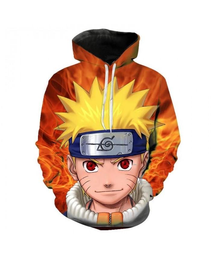 Naruto 3D Printed Hoodies Women Men Hot Sale Long Sleeve Casual Hooded Sweatshirts Anime Fashion Streetwear Clothes Custom 2021
