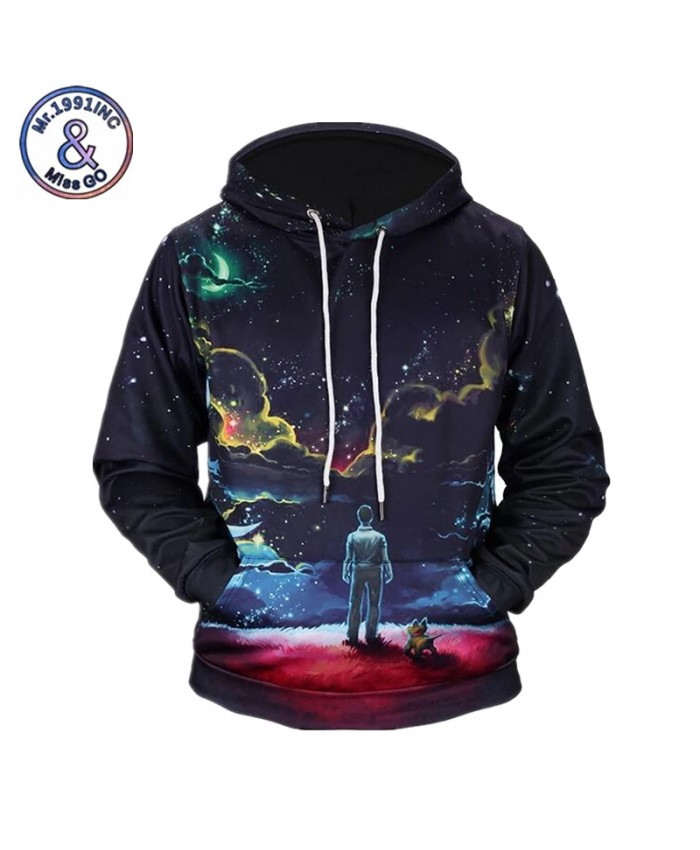 3D Sweatshirts Men Print Person and Dog Harajuku Hoodies Sudaderas Hombres Casual Hoody Tracksuit Tops