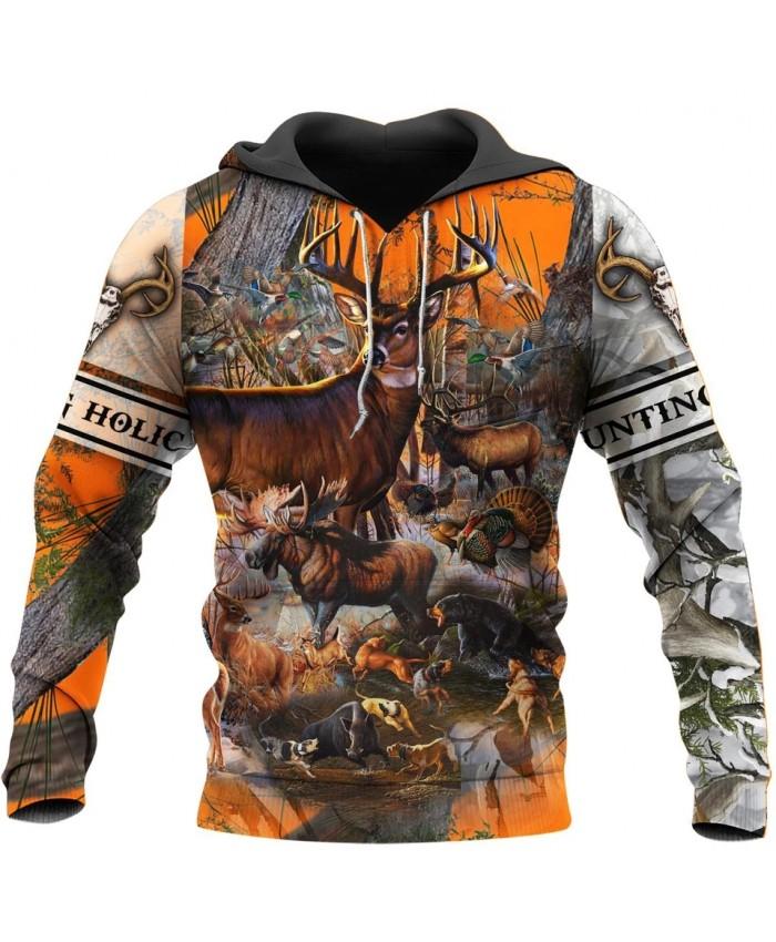 New fashion hunting camouflage 3D printed sweatshirt hoodie zipper hoodie fun unisex casual street sweatshirt