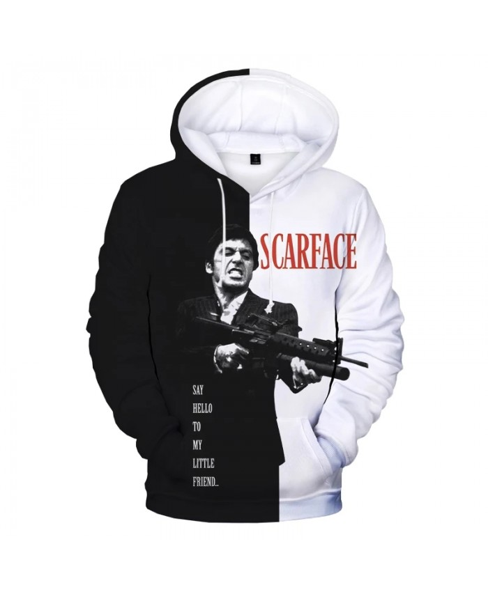 Scarface 3D Print Hoodie Sweatshirts Men Women Winter Fashion Casual Pullover Gangland Movie Harajuku Streetwear Cool Hoodies