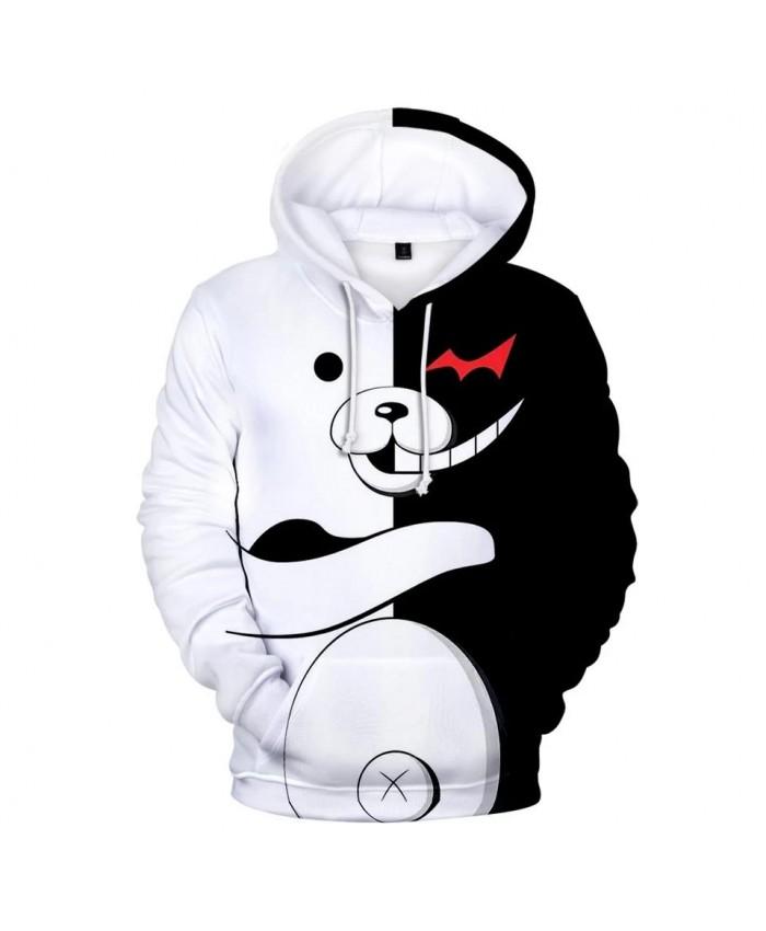 Hot Anime monokuma Hoodies Men Women Winter pullovers New Autumn Kids Hooded Sweatshirts Fashion monokuma boys girls 3D Hoodies