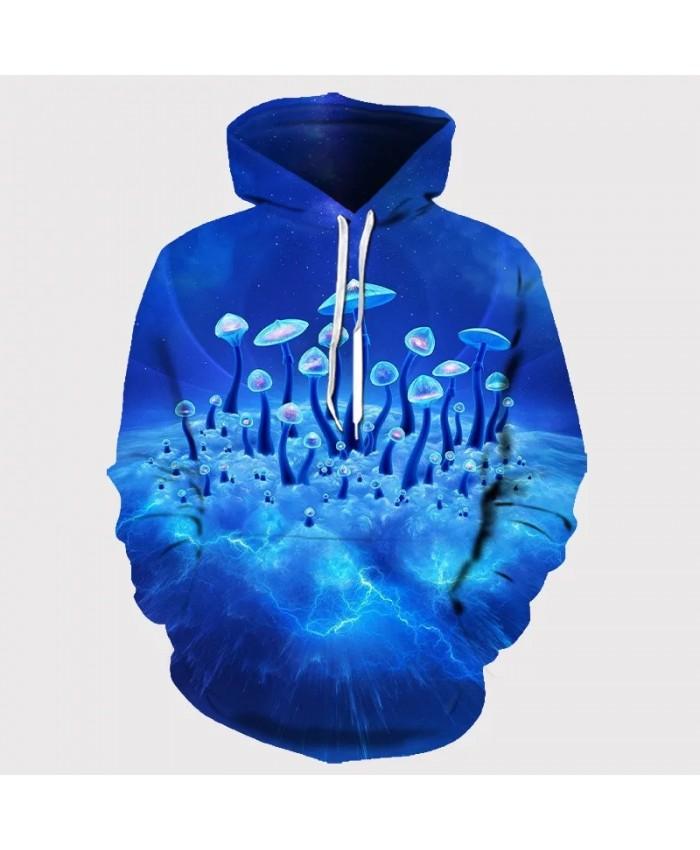 New Men's Tree Landscape 3D Digital Printing T-shirt Tide Brand Plus Size Sweater