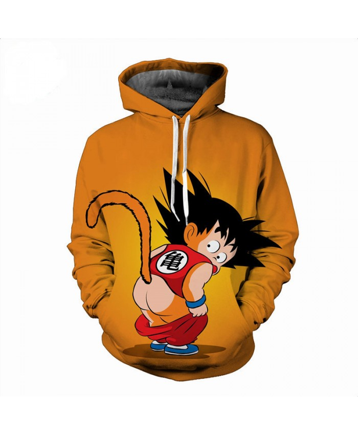 5XL Autumn Dragon Ball Hoodie 3D Sweatshirts Men Cartoon Kids Goku Gohan Hoodies Funny Novelty Outwear Hiphop Streetwear