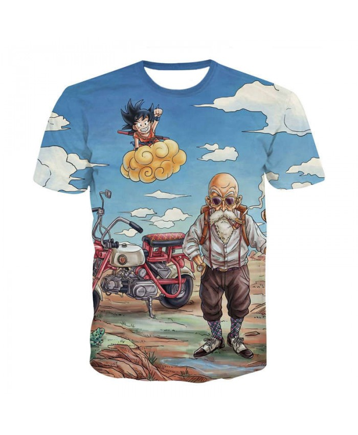 5XL Harajuku Japan Anime Dragon Ball T Shirt Men Women Funny Master Roshi Son Goku Goten Gohan T Shirts Child Cartoon Tshirt