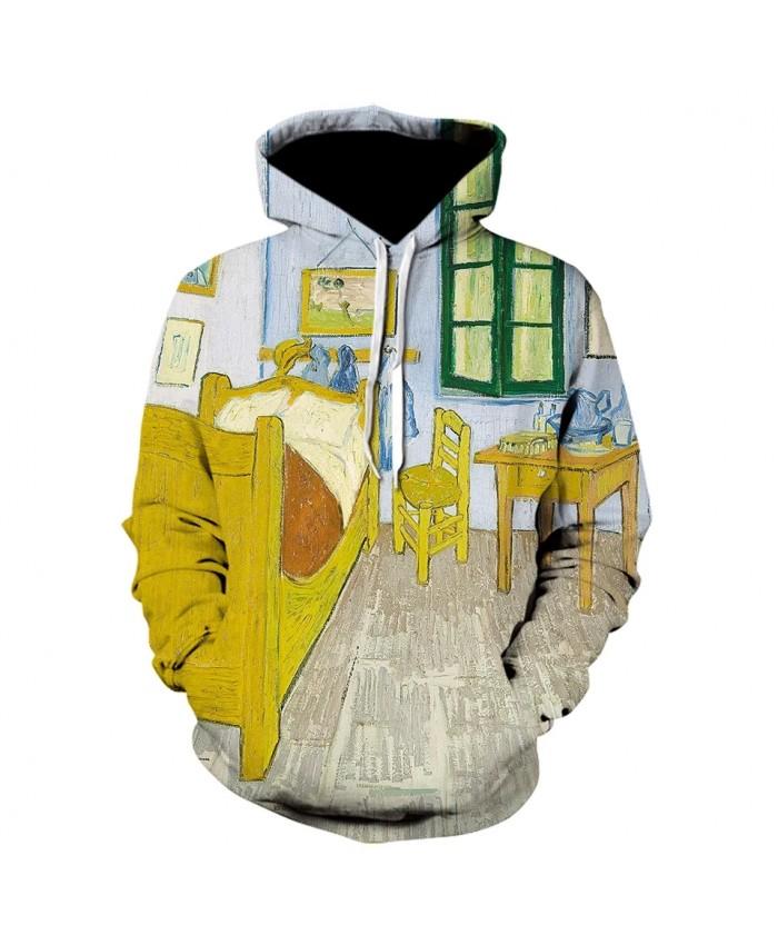 Van Gogh Yellow Table Chair 3D Printed Hoodies New Fashion Popular Sweatshirt High Quality Desgin Men Women Hoodie Cool Coat