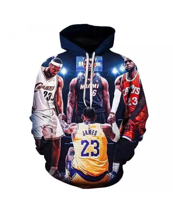 Men's 3D Printing Featured Hoodie Basketball Star Hoodie Boys Street Style Long Sleeve Popular Sports Hoodie