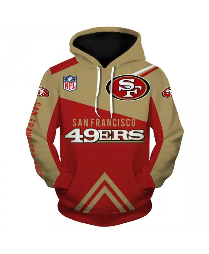 San Francisco fashion cool Football 3d hoodies sportswear Khaki red stitching letter print 49ers print Bears sweatshirt 1