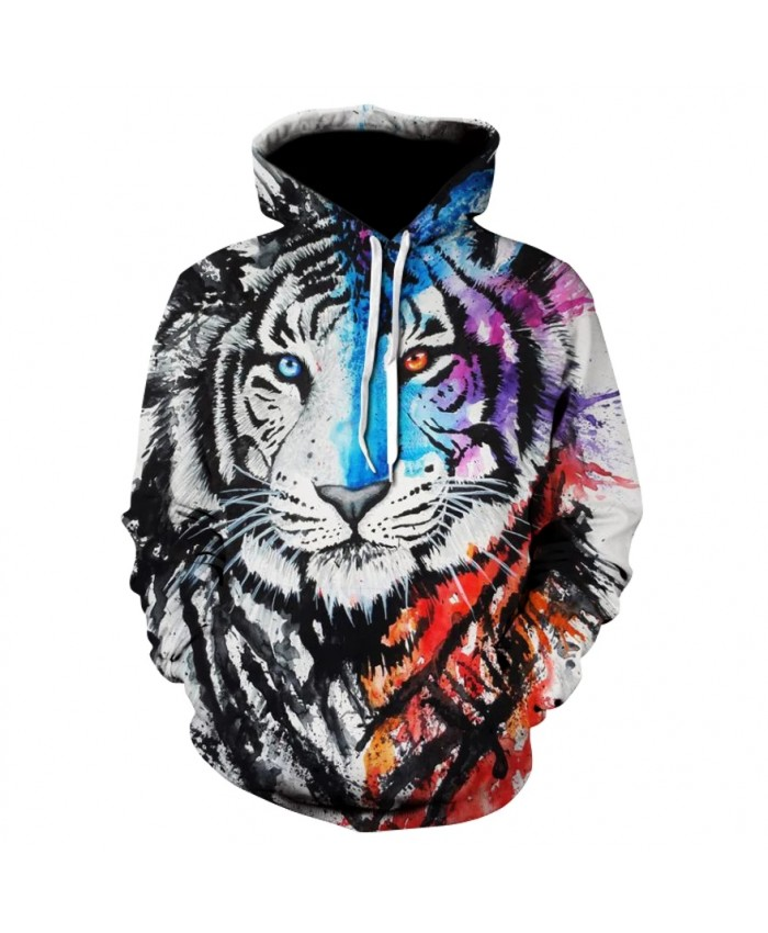 American animal cool personality 3D printing hoodie men and women casual sportswear hoodie animal Harajuku sweatshirt