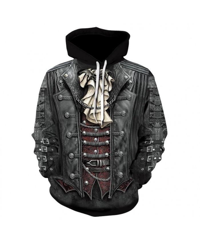 Men's skull print hoodie 2021 fashion trend street wear heavy metal rock long-sleeved thin hoodie sweatshirts