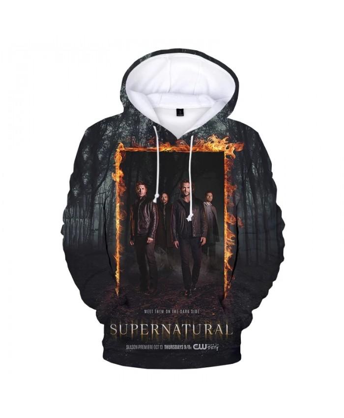 2021 TV Series Supernatural 3D Hoodies Men Women Autumn Winter Fashion Casual Pullover Unisex Streetwear Personality Sweatshirts