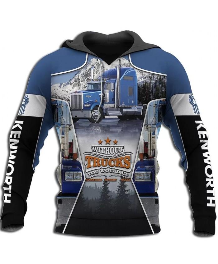 New style hoodie I am a trucker 3D printed sweatshirt hoodie zipper hoodie fun fashion street unisex casual sports hoodie NO004