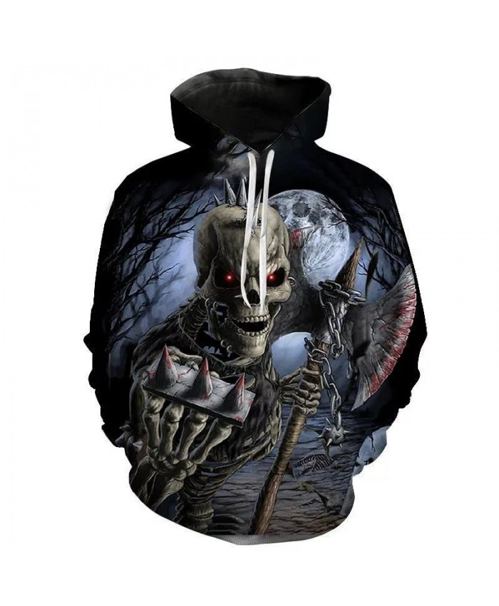 New Hoodies Men Women Children Horror Sweatshirts 3D Printed Pullover Streetwear Fashion Casual Boy Girl Pullover Hooded Jacket