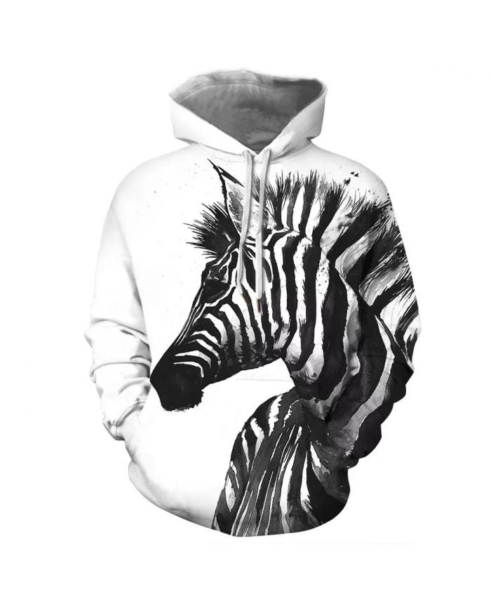2021 New Zebra Animal Print Men Women's Hoodie Autumn Winter Hip Hop Hoody Tops Casual Brand Sweatshirts Hoodie