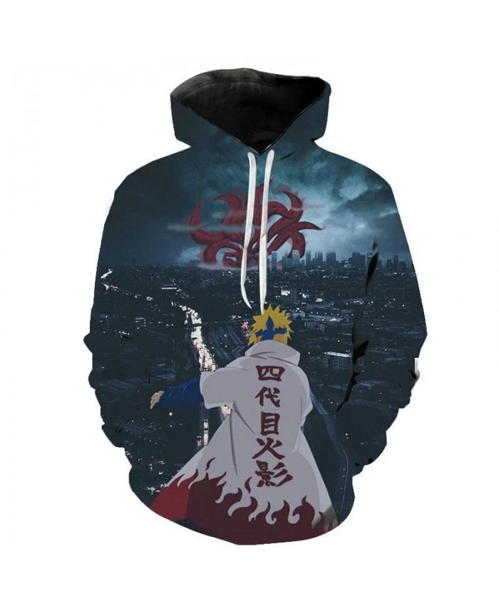 Autumn And Winter Fashion Men's And Women's Naruto Hoodie 3d Printing Children's Cartoon Street Clothing Pullover Casual Coat