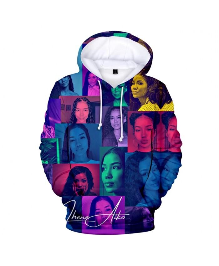 Jhene Aiko 3D Printed Hoodies Women Men Fashion Long Sleeve Hooded Sweatshirt Hot Sale Casual Streetwear Clothes