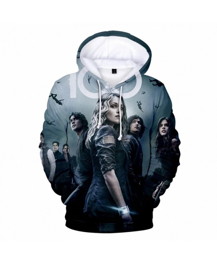 2021 Movie Series THE 100 Hoodie Hot Sale THE 100 Sweatshirts Autumn Boys Girls Clothing Men Women Hooded Pullover Tops