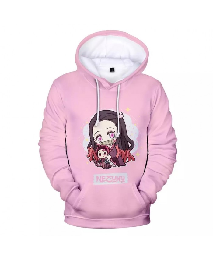 Aikooki 3D Demon Slayer Hoodies Women Sweatshirts Men Casual Hooded Streetwear Sweatshirts Demon Slayer 3D Hoodies Female Tops