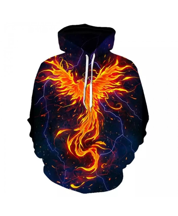 2021 Autumn Men's And Women's Hoodie 3d Printing Phoenix Fashion Street Hoodie Long Sleeve Sports Hoodie