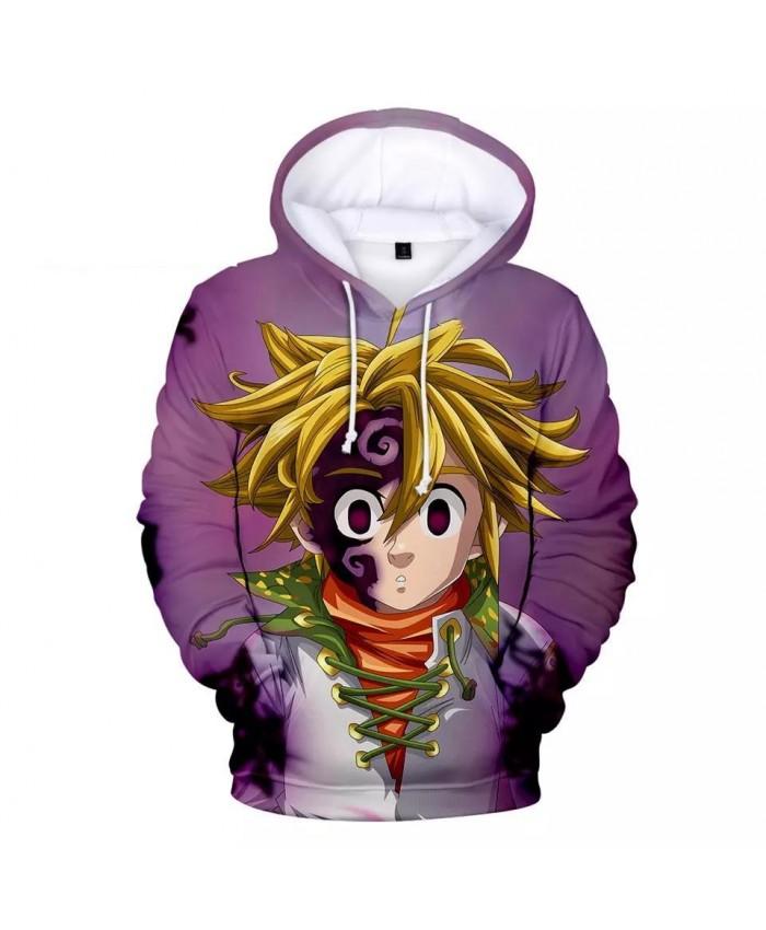 3D boys girls meliodas Hoodies Sweatshirt Comfortable Men women Autumn Harajuku 3D Hoody casual kids meliodas pullovers