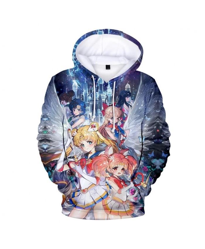 Fashion 3D printed cartoon Sailor Moon Hoodies Men Women casual Fall Winter Hip Hop Kids Sweatshirts Boys Girls Hoodie pullovers
