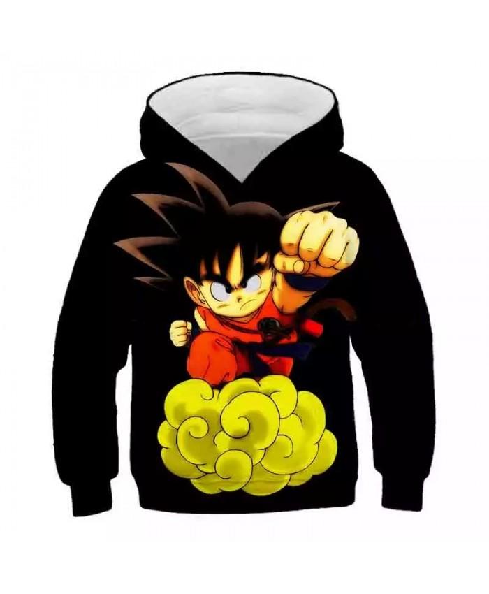 New Dragon Z Hoodies Kids 3D boy girls Sweatshirt Poleron Goku Saiyan Anime Coat Sweater Pullover Streetwear Autumn Tops