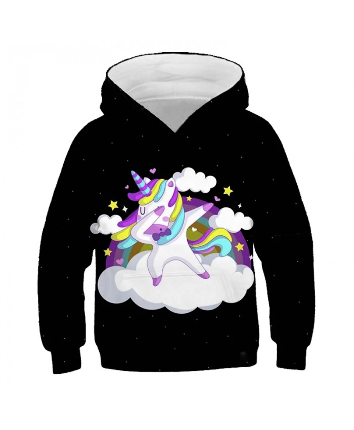 Fashion Unicorn 3D Print Toddler Boys Girls Sweatshirt Casual Hoodies Baby Autumn Long Sleeve Girl Clothes Fantasy Rainbow Tops