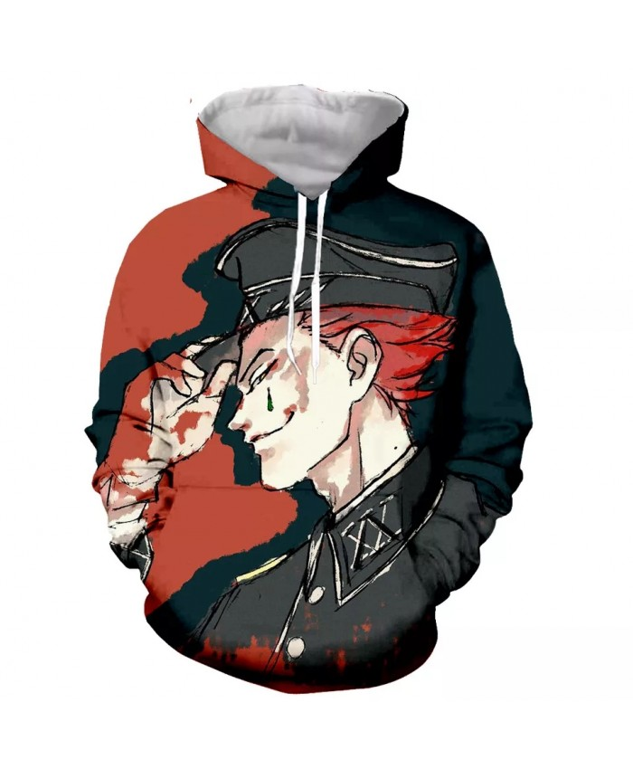 Hisoka Fashion Long Sleeves 3D Print Hoodies Sweatshirts Jacket Men women tops