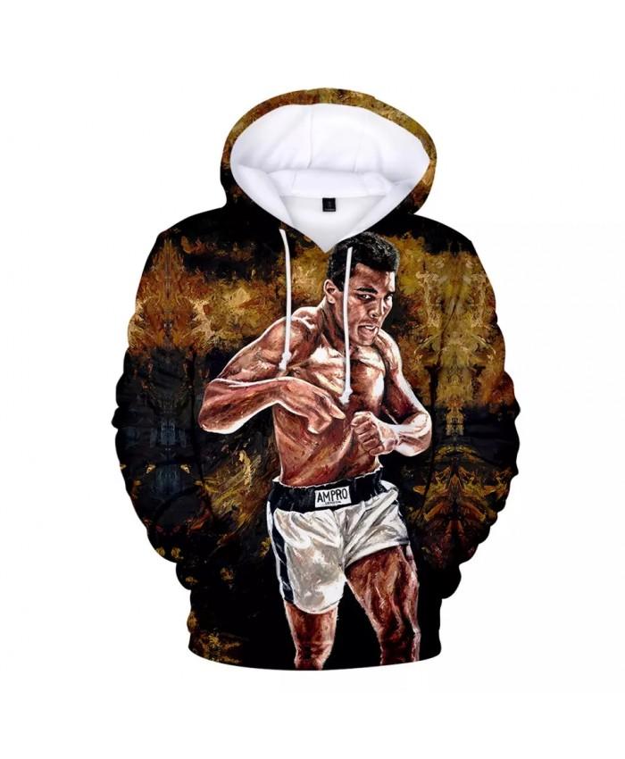 Muhammad Ali Hoodies Men Women Sweatshirts Long Sleeve Pullover Hooded Coat Casual Harajuku 3D Print Muhammad Ali Hoodies