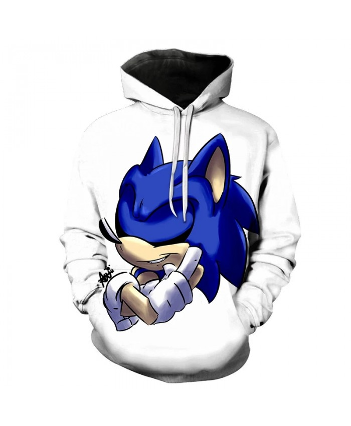 New products on the shelves of Sonic the Hedgehog 3D printing hooded sweatshirt men and women fashion casual pullover youth