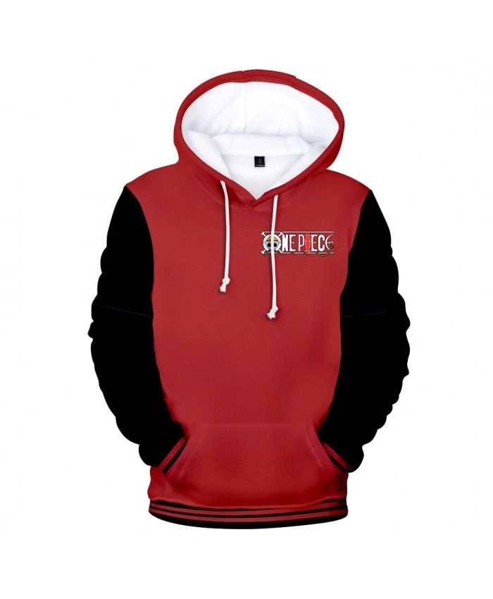 Black Red Pullovers 3D One Piece Hoodies Sweatshirts Men Women Tops Harajuku Kids Hooded Casual 3D One Piece Autumn boys Hoodie