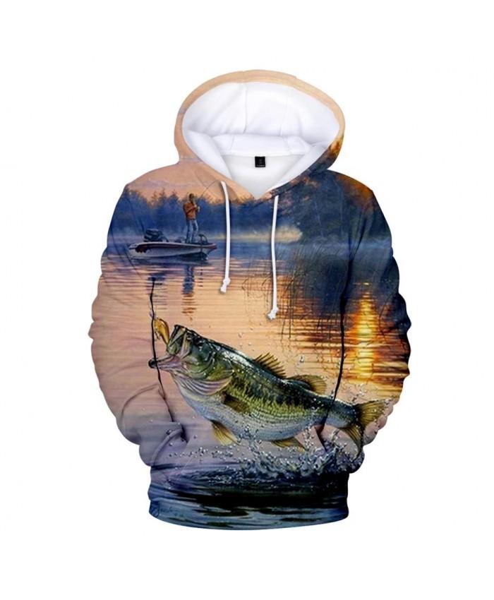 Comfortable 3D fish hoodies men women Sweatshirts Hot print fish children's fashion hooded casual boys girls Autumn pullovers