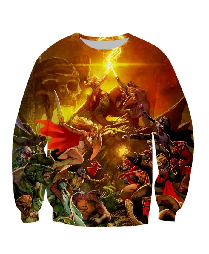 He man and The Masters of The Unive Fashion Long Sleeves 3D Print Hoodies Sweatshirts Jacket Men women tops