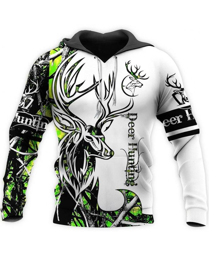 New unisex casual sweatshirt hunting deer camouflage 3D printed sweatshirt hoodie zipper hoodie fun street casual sweatshirt NO1