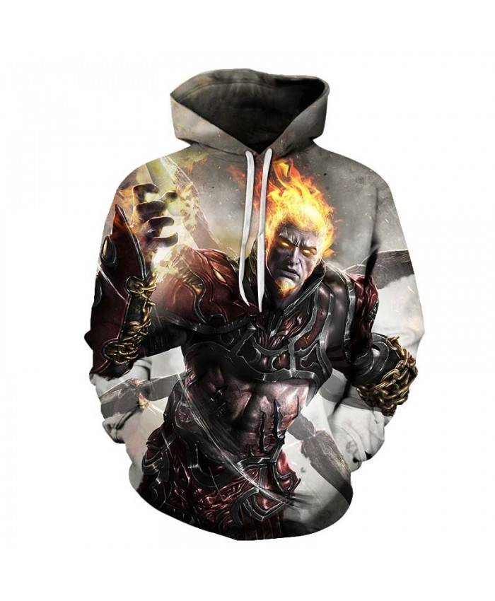 A Fire On The Head Mens Pullover Sweatshirt hoodies Pullover Sweatshirt Fashion Hoodie Long Sleeve Anime Top Men