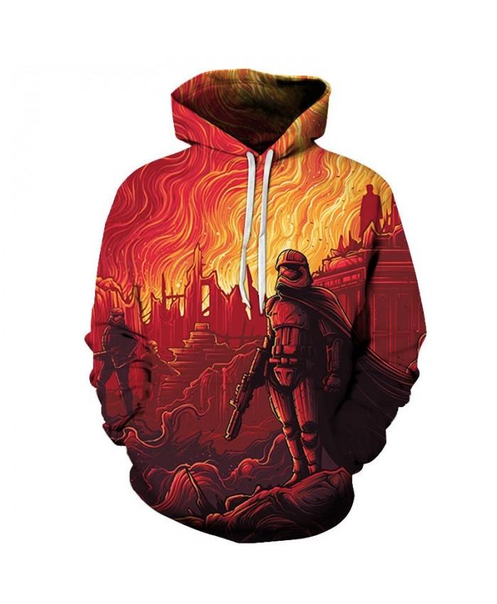 A Flame Star Wars 3D Printed Mens Pullover Sweatshirt Clothing for Men Custom Streetwear Pullover Hoodie Drop Ship